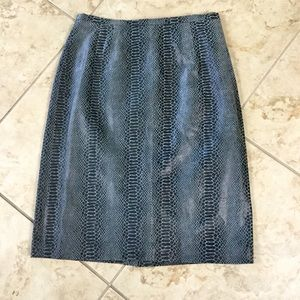 Terry Lewis Leather Skirt Size 8